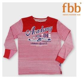 DJ&C Boy Cotton Striped T-shirt - Red