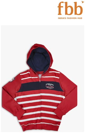 DJ&C Boy Cotton Solid Sweatshirt - Red