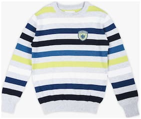 DJ&C Boy Blended Striped Sweater - Grey