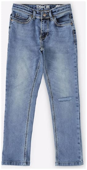 Dj & C Towel Wash Denim For Boys White