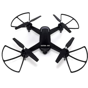 DJITON E93 | Hi-Tech|Wi-Fi HD 720P |F.P.V. Dual Camera-Original|3D|Trade Mark of Robotoys| Perfect Grip Drone with stability. Black