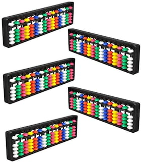 Djuize Abacus math learning kit for kids multi color 15 rod ( pack of 5 )