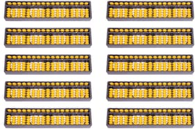 Djuize Abacus Math Learning kit for Kids 17Rod Yellow  (Set of 10)