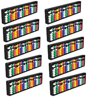 Djuize Abacus math learning kit for kids multi color 15 rod ( pack of 10 )