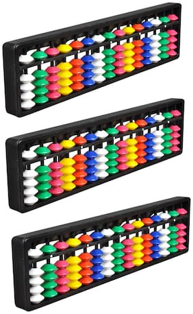 Djuize Abacus Math Learning kit for Kids 15Rod Multicolour  ( Set of 3)