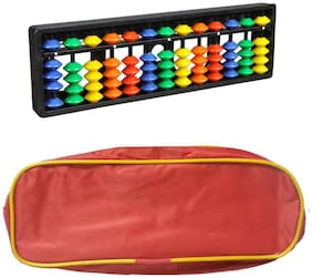 Djuize Abacus Math Learning kit for Kids 13Rod Multicolour with Pouch ( Set of 3)