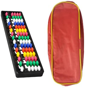 Djuize Abacus Math Learning kit for Kids 15 Rod  Multicolour with Pouch  ( Set of 5)