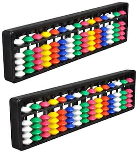 Djuize Abacus math learning kit for kids multi color 15 rod ( pack of 2 )