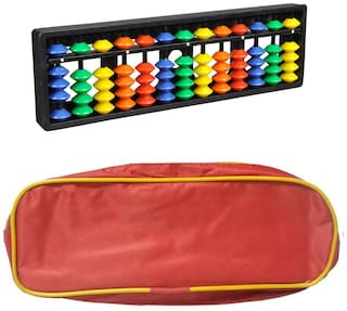 Djuize Abacus Math Learning kit for Kids  13Rod Multicolour( Set of 1)