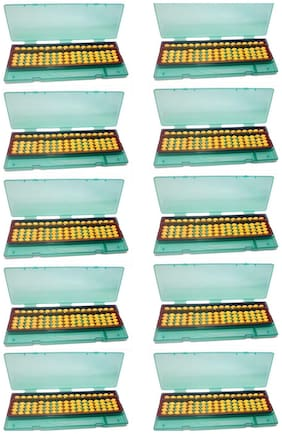 Djuize Abacus  17 rod Yellow with box set of 10