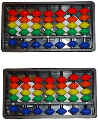 Djuize Abacus Math Learning kit for Kids Multicolour 7Rod ( Set of 2)
