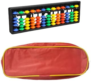 Djuize Abacus Math Learning kit for Kids 13Rod Multicolour with Pouch ( Set of 2)