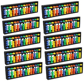 Djuize Abacus math learning kit for kids multi color 13 rod ( pack of 10 )