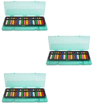 Djuize Abacus 17 Rod Multi color with box set of 3 pieces