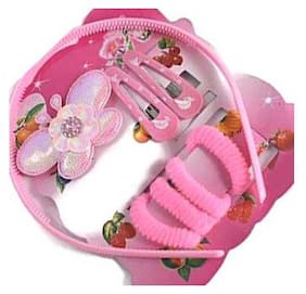 Dlassie Trends Pink Girls Rubber band - Set of 1