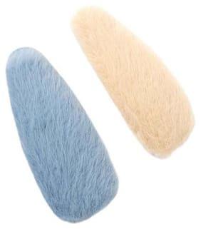 Dlassie Trends Pink & Grey Girls Hair clip - 2 pieces