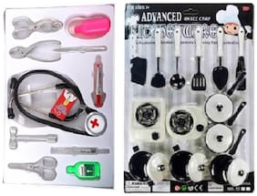 Doctor Play Set With Kitchen Set For Kids
