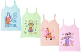 Dollar kids care Camisole For Baby girl - Multi , 4