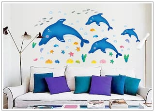 Dolphins wall sticker for home decoration