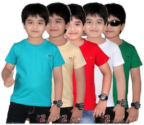 Dongli Boys Marvellous T Shirts-Pack Of 5