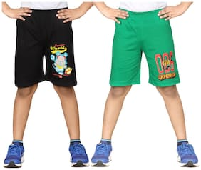 DONGLI BOYS PRINTED SHORTS (PACK OF 2)