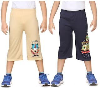 DONGLI BOYS PRINTED THREE FOURTH (PACK OF 2)