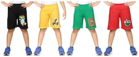 DONGLI BOYS PRINTED SHORTS (PACK OF 4)