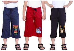 DONGLI BOYS PRITNED THREE FOURTH (PACK OF 3)
