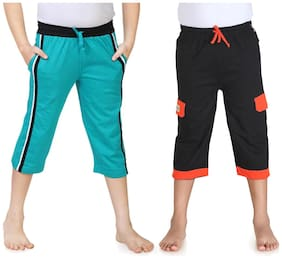 Dongli Boys Three Fourth Capri Pack Of 2 (3-4 Years)