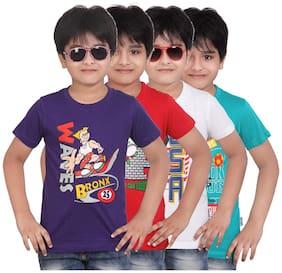 Dongli Pack Of 4 Printed Round Neck T-Shirt (2-3Years)