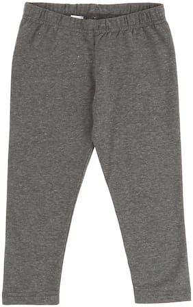 Donuts Baby girl Cotton blend Solid Leggings - Grey
