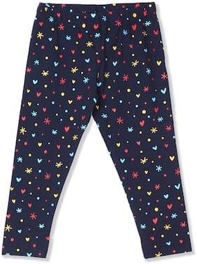 Donuts Baby girl Cotton Printed Leggings - Blue