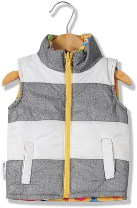 Donuts Baby boy Polyester Checked Winter jacket - Multi