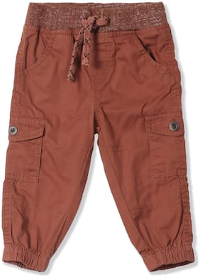 Donuts Baby boy Cotton Solid Trousers - Brown