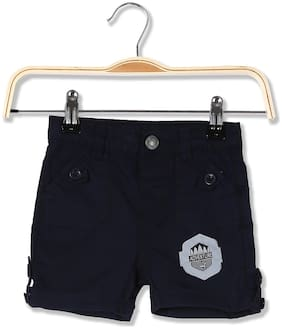 Donuts Baby boy Cotton Solid Shorts - Blue