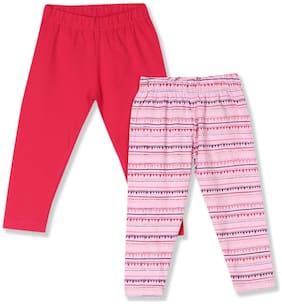 Donuts Baby girl Cotton Printed Leggings - Pink
