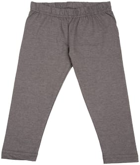 Donuts Baby girl Cotton Solid Leggings - Grey