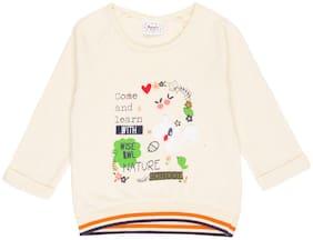 Donuts Baby girl Cotton blend Solid Sweatshirt - Beige