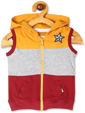 Donuts Baby boy Cotton Colorblocked Winter jacket - Multi