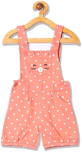Donuts Baby girl Cotton Printed Onesie - Pink