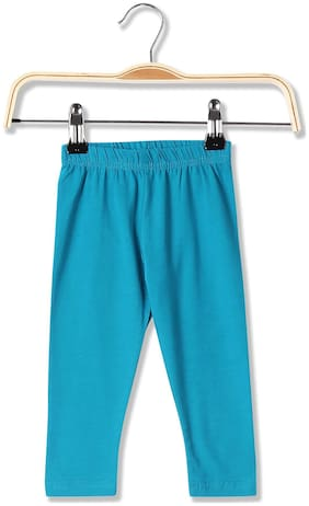 Donuts Baby girl Cotton blend Solid Leggings - Blue
