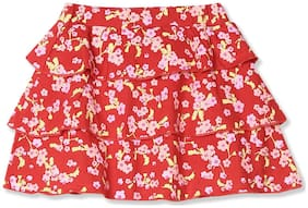 Donuts Baby girl Cotton Printed Skirt - Red