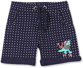 Donuts Baby boy Cotton Printed Shorts - Blue