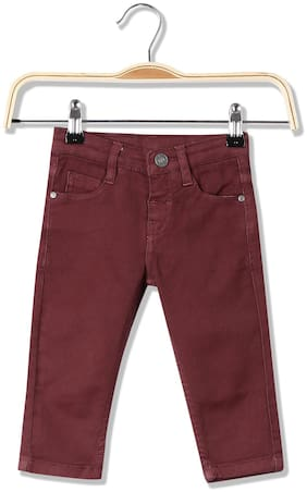 Donuts Baby boy Cotton Solid Jeans - Brown