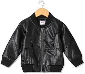Donuts Baby boy Polyester Printed Winter jacket - Black