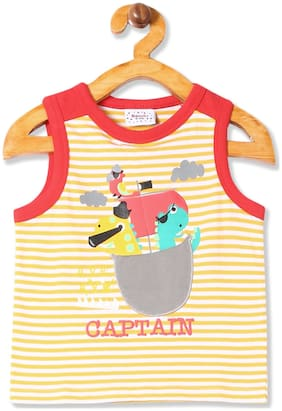 Donuts Cotton Printed T shirt for Baby Boy - Yellow