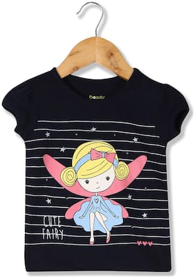 Donuts Cotton Printed T shirt for Baby Girl - Blue