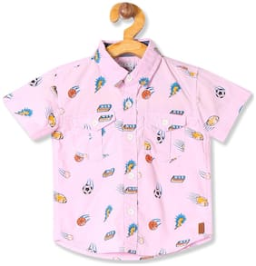 Donuts Cotton Printed Shirt for Baby Boy - Pink