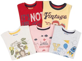 Donuts Cotton Printed T shirt for Baby Boy - Multi