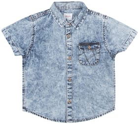 Donuts Cotton Solid Shirt for Baby Boy - Blue